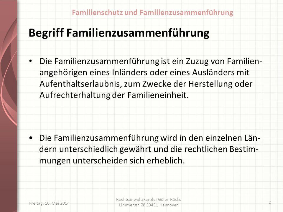 Begriff Familienzusammenführung