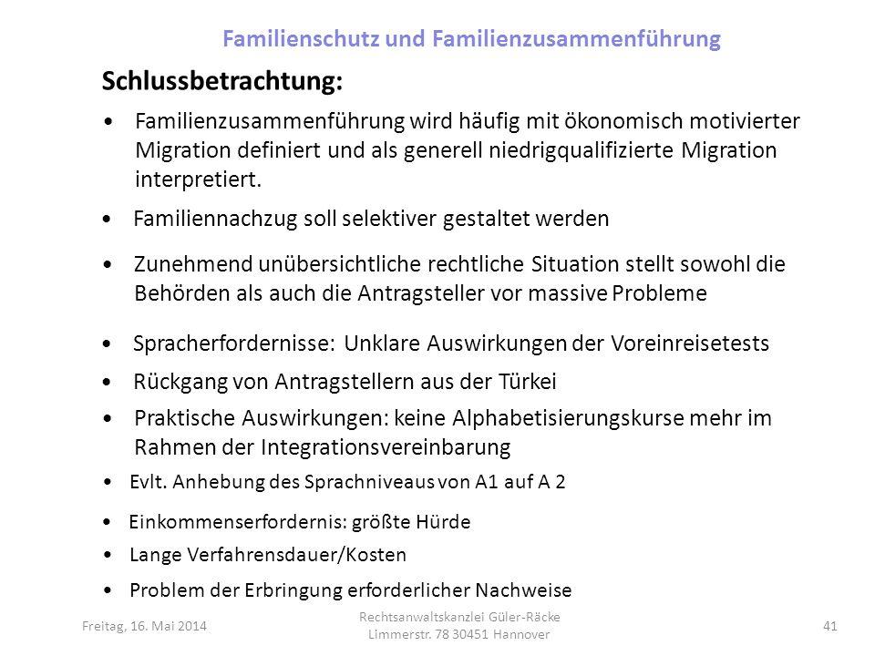Familienschutz und Familienzusammenführung
