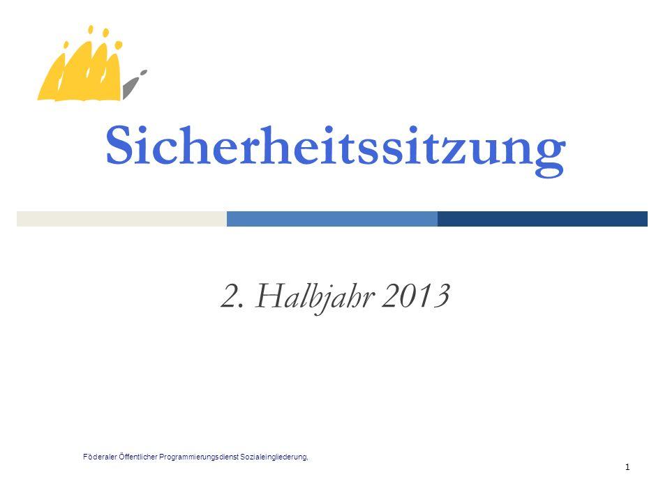 Sicherheitssitzung 2. Halbjahr 2013