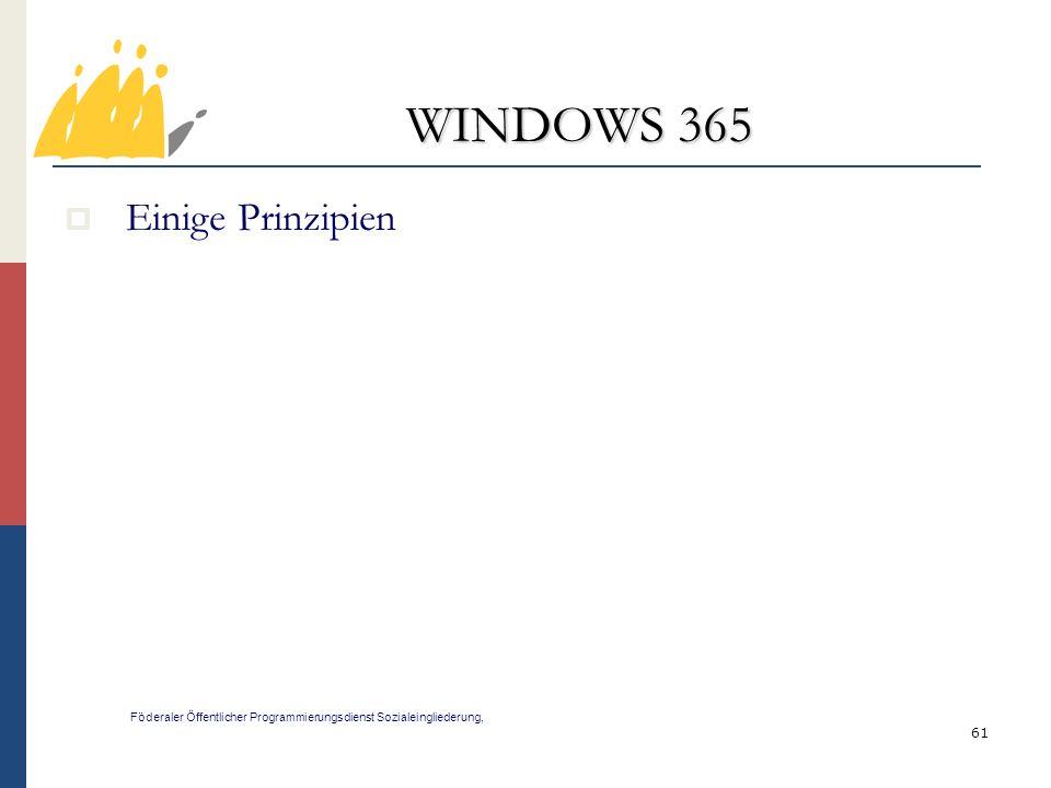 WINDOWS 365 Einige Prinzipien 61