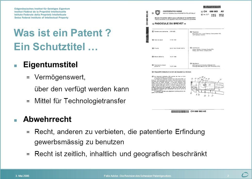 Was ist ein Patent Ein Schutztitel …