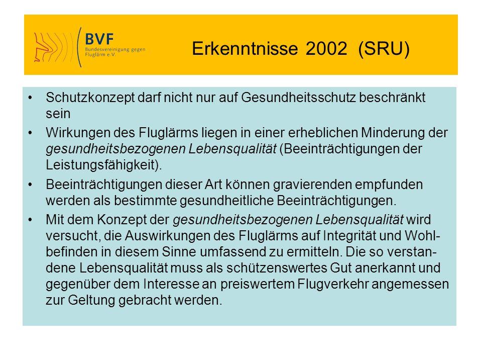 Erkenntnisse 2002 (SRU) Schutzkonzept darf nicht nur auf Gesundheitsschutz beschränkt sein.