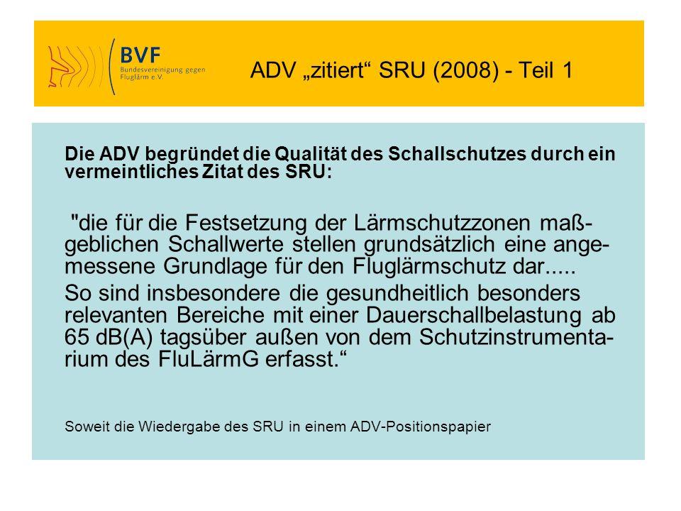 "ADV ""zitiert SRU (2008) - Teil 1"
