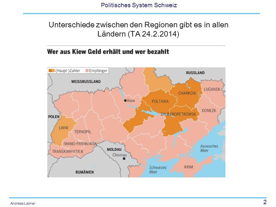 Unterschiede zwischen den Regionen gibt es in allen Ländern (TA 24. 2