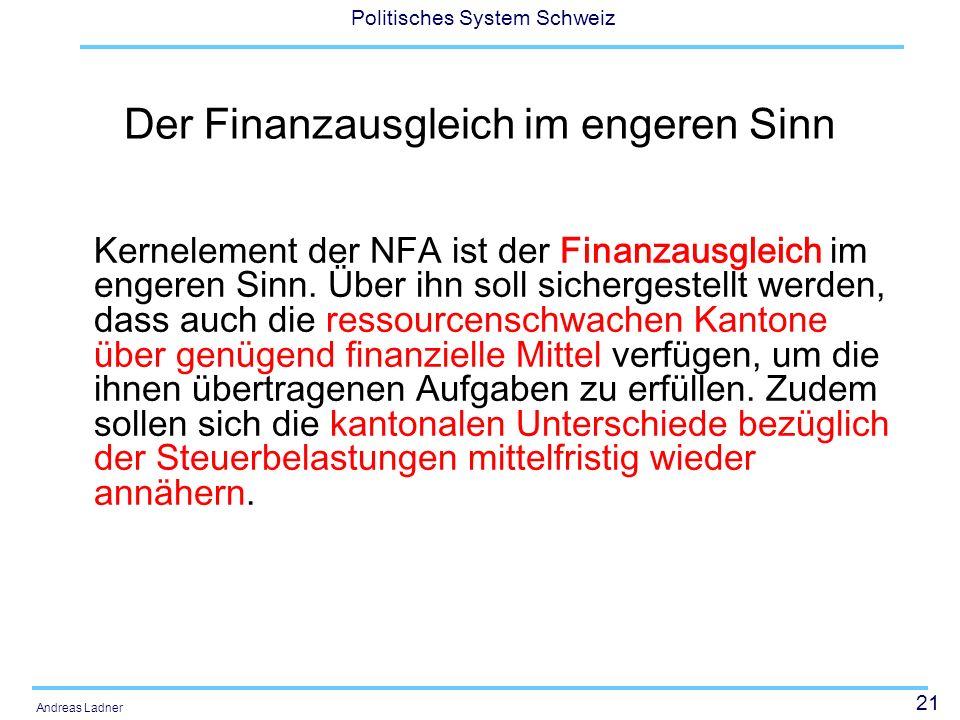 Der Finanzausgleich im engeren Sinn