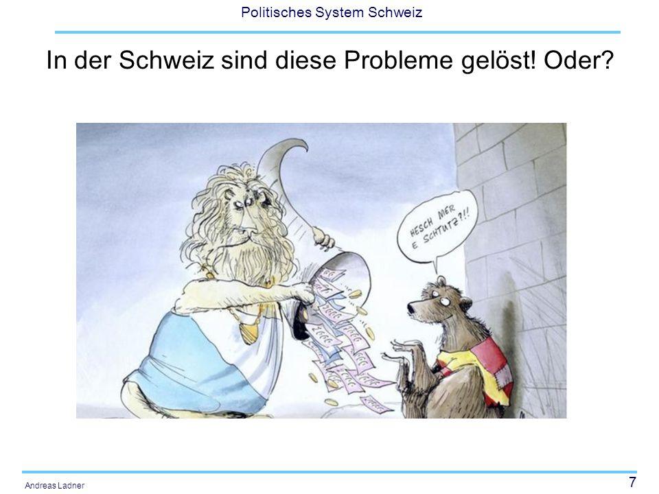 In der Schweiz sind diese Probleme gelöst! Oder