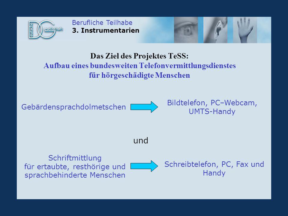 Das Ziel des Projektes TeSS: