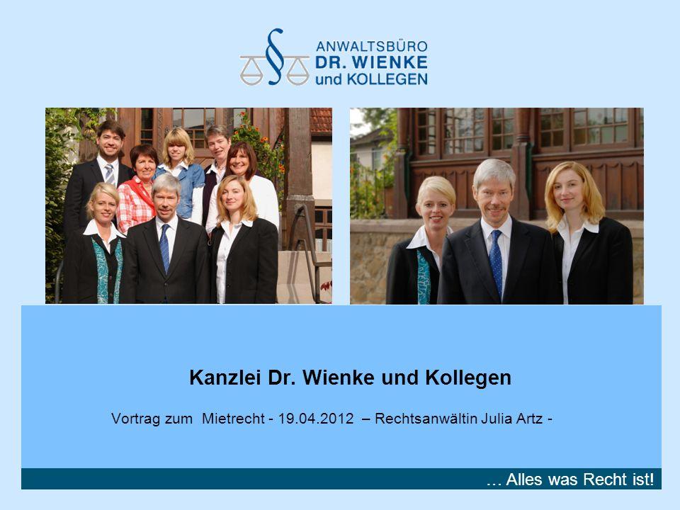Kanzlei Dr. Wienke und Kollegen