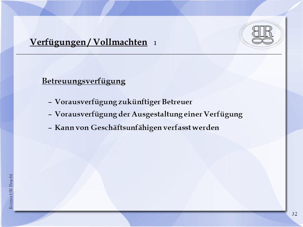 Verfügungen / Vollmachten 1