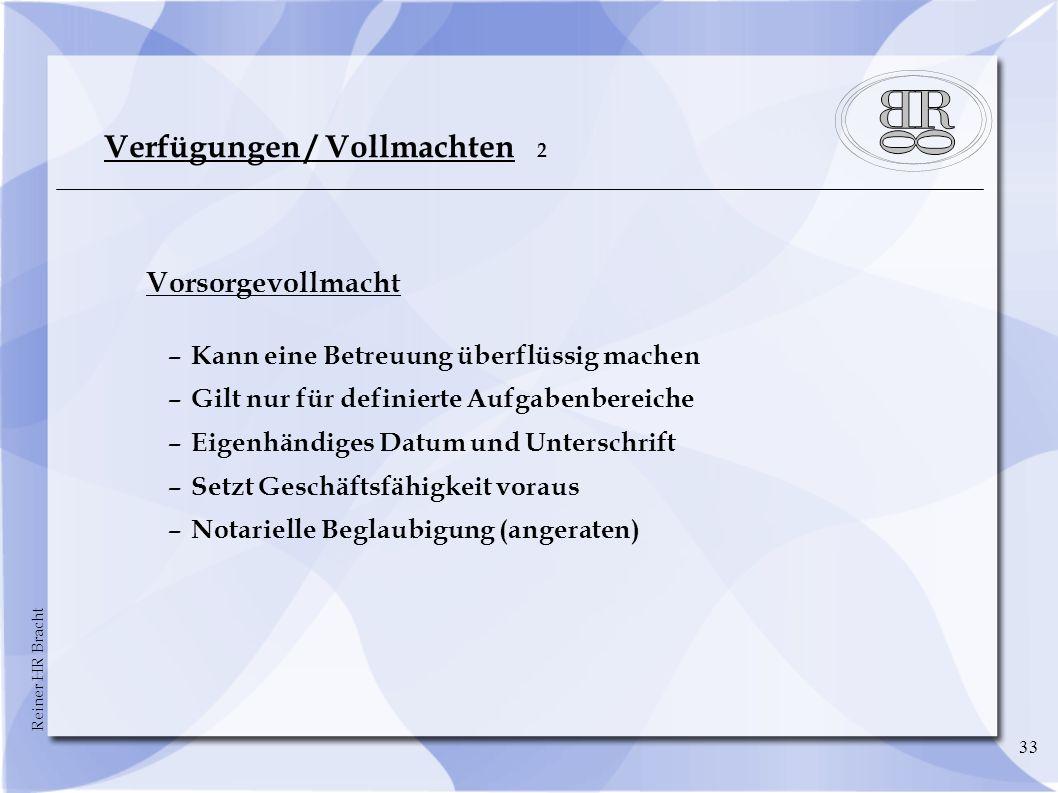 Verfügungen / Vollmachten 2