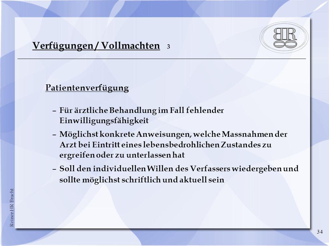 Verfügungen / Vollmachten 3