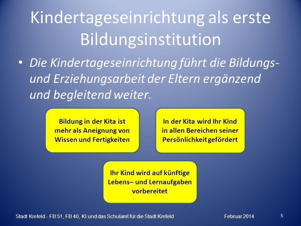 Kindertageseinrichtung als erste Bildungsinstitution