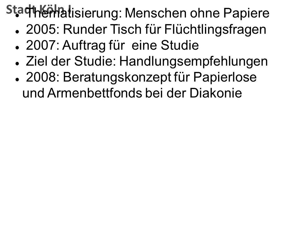Stadt Köln I Thematisierung: Menschen ohne Papiere