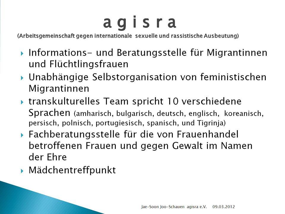 a g i s r a (Arbeitsgemeinschaft gegen internationale sexuelle und rassistische Ausbeutung)