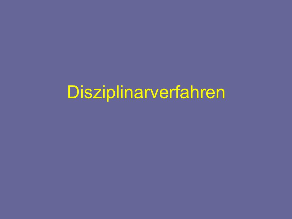 Disziplinarverfahren