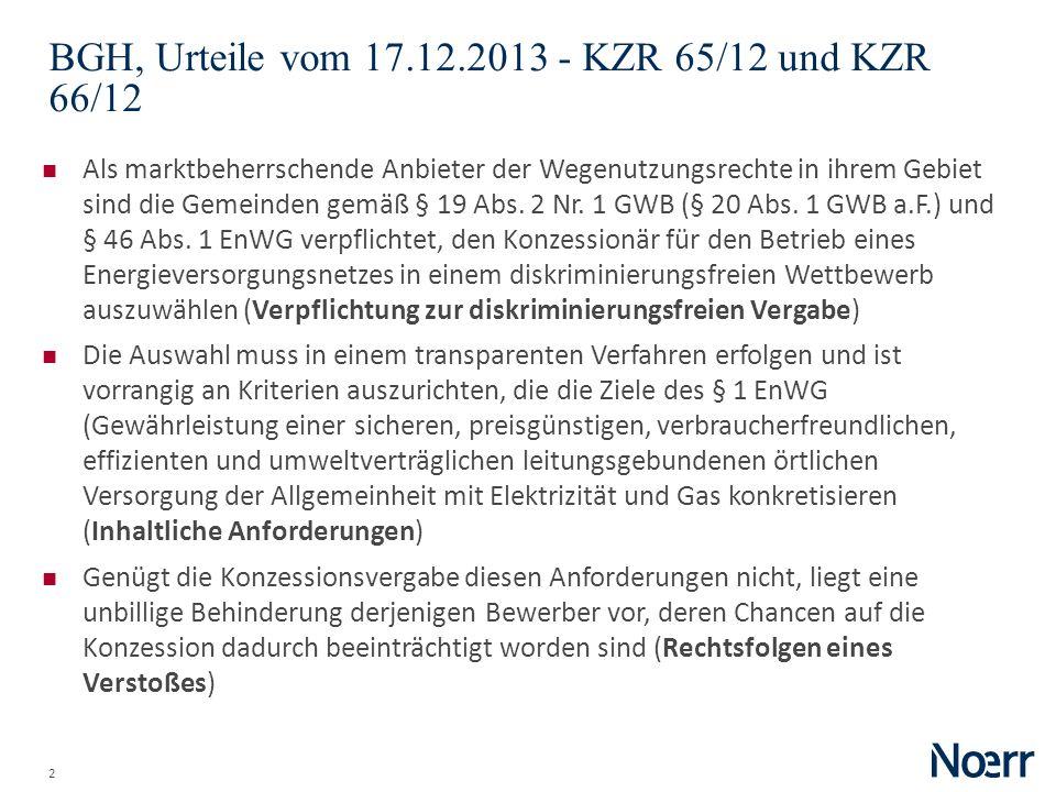 BGH, Urteile vom 17.12.2013 - KZR 65/12 und KZR 66/12