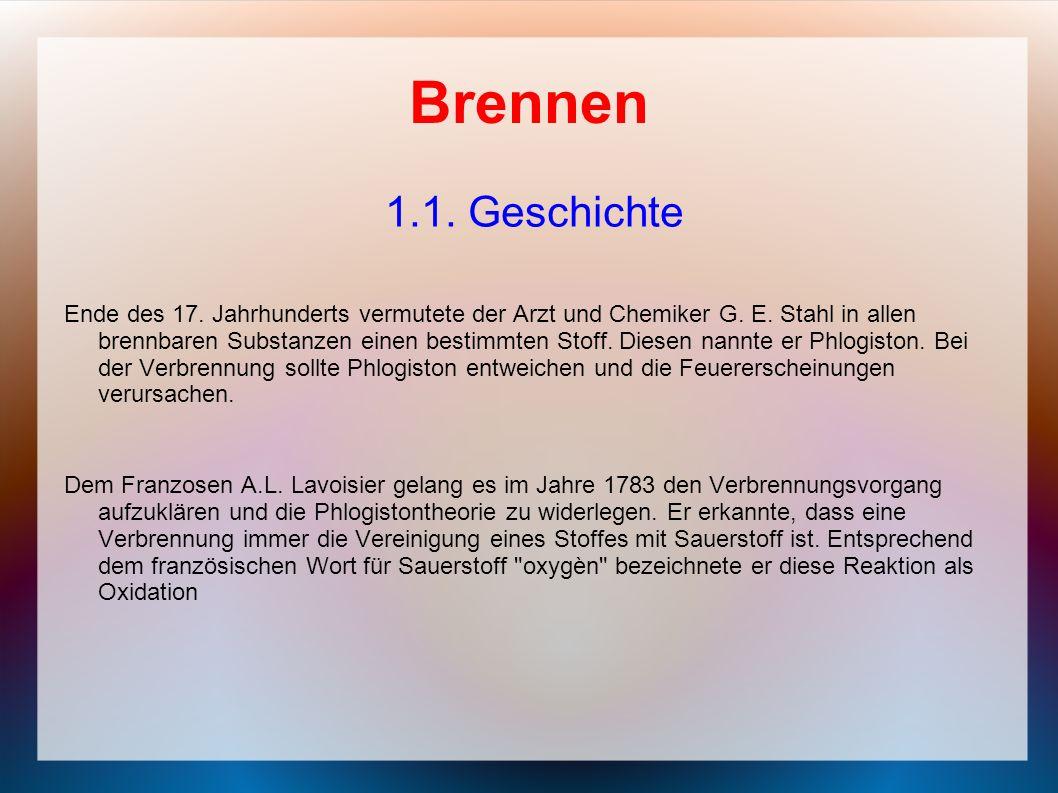 Brennen 1.1. Geschichte.