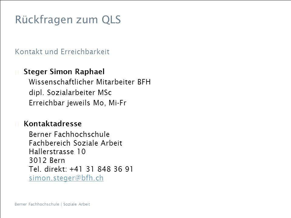 Rückfragen zum QLS Kontakt und Erreichbarkeit Steger Simon Raphael