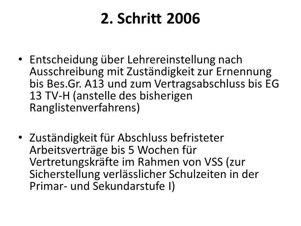 2. Schritt 2006