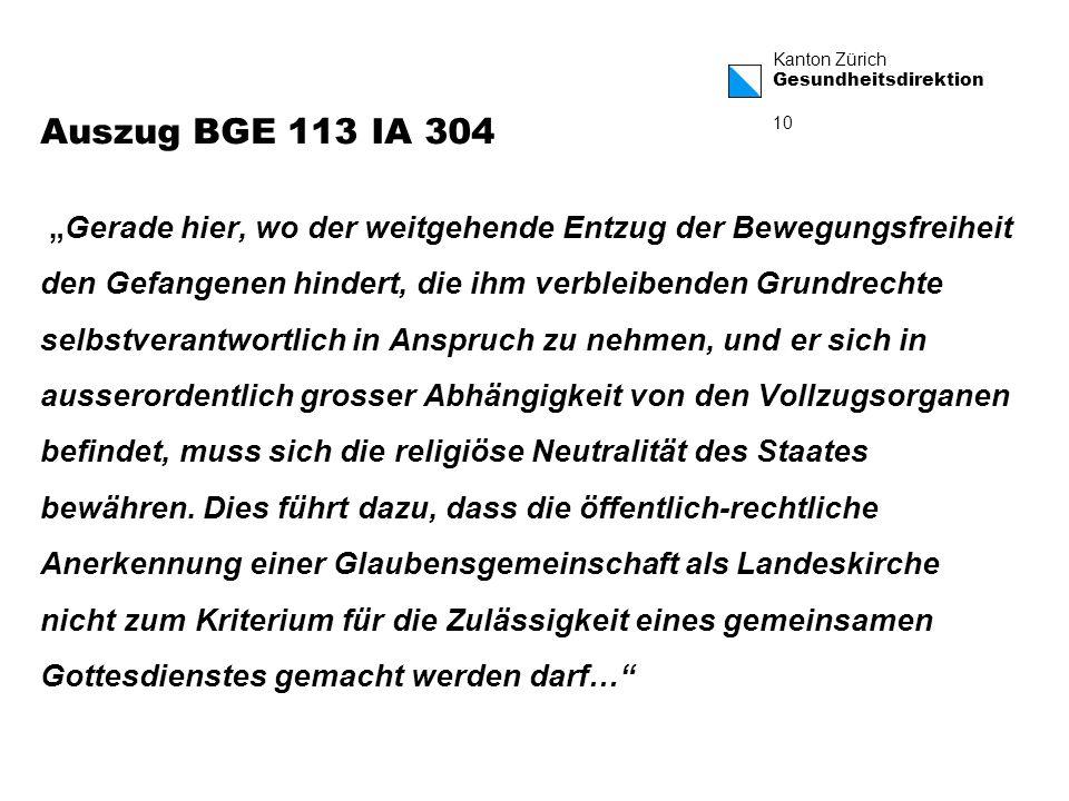 Auszug BGE 113 IA 304