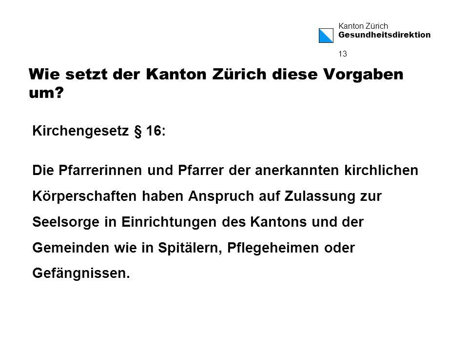 Wie setzt der Kanton Zürich diese Vorgaben um