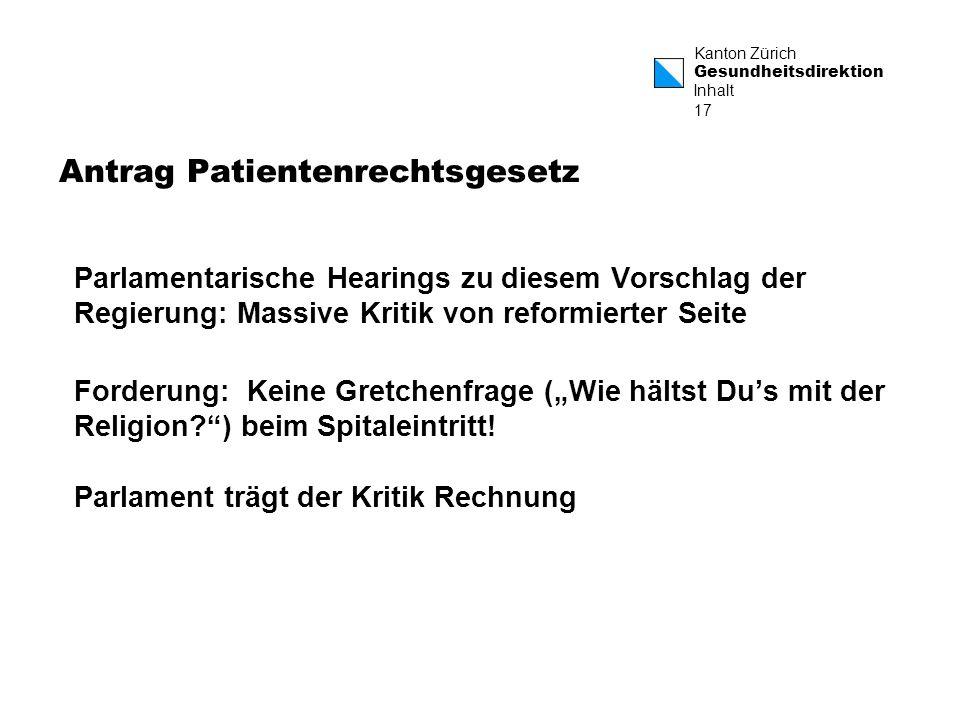 Antrag Patientenrechtsgesetz