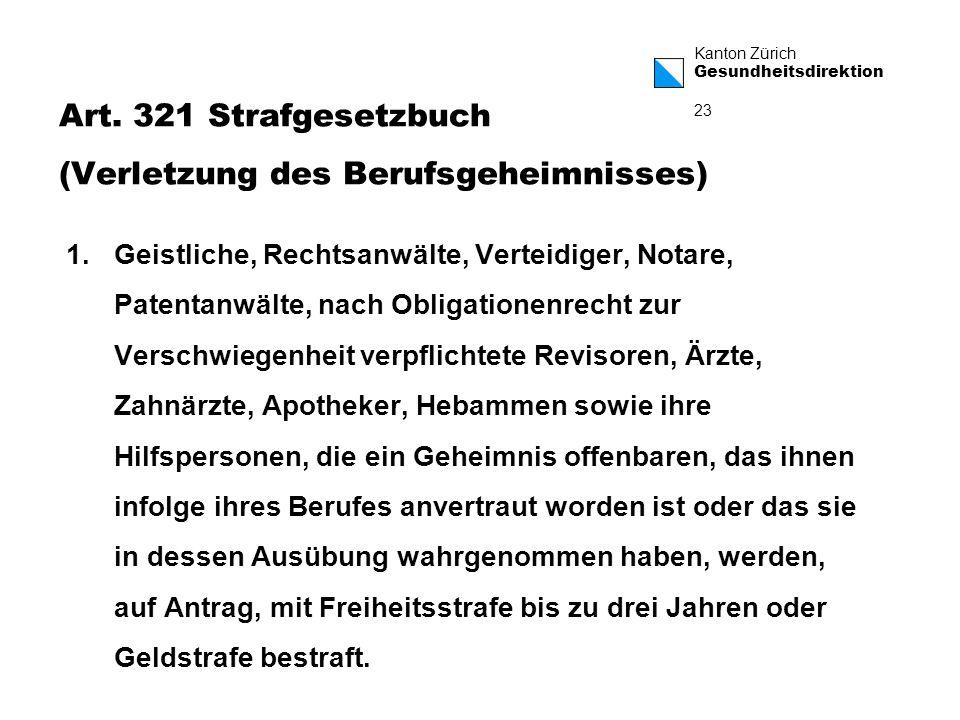 Art. 321 Strafgesetzbuch (Verletzung des Berufsgeheimnisses)