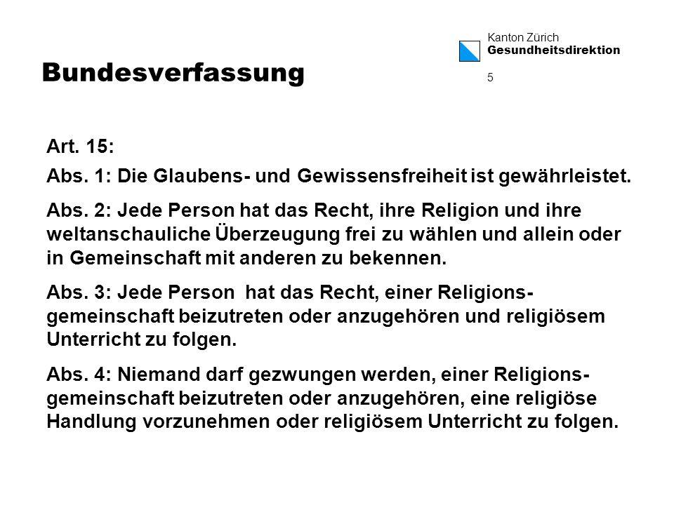 Bundesverfassung Art. 15: