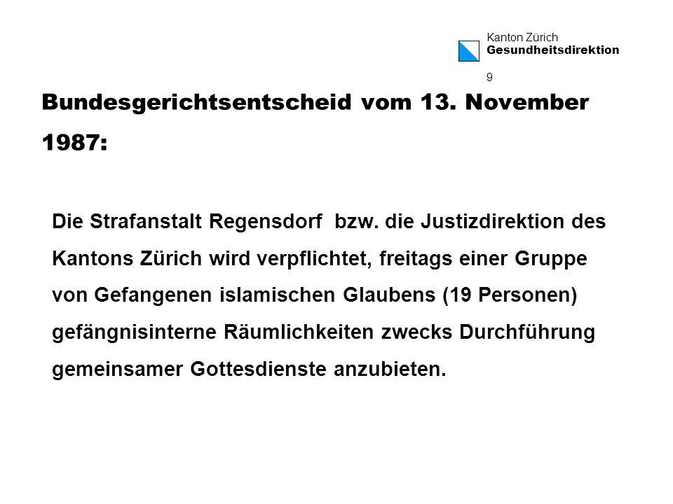 Bundesgerichtsentscheid vom 13. November 1987: