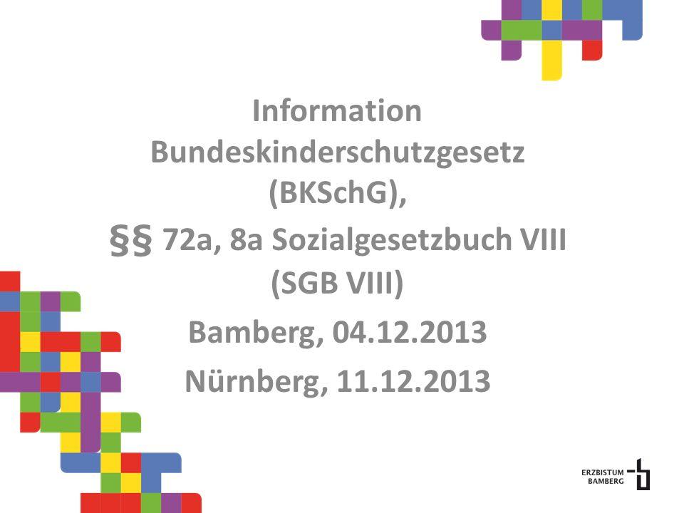 Information Bundeskinderschutzgesetz (BKSchG),