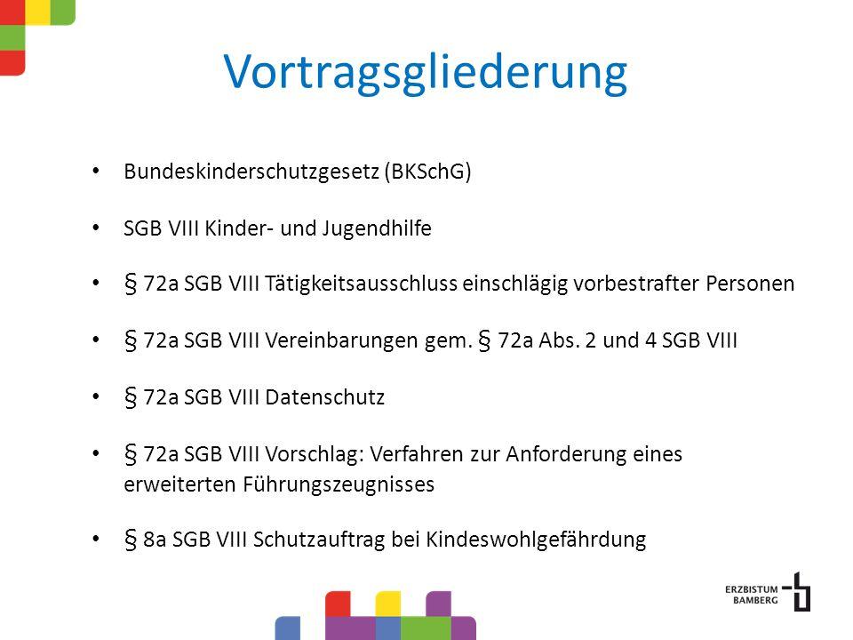 Vortragsgliederung Bundeskinderschutzgesetz (BKSchG)