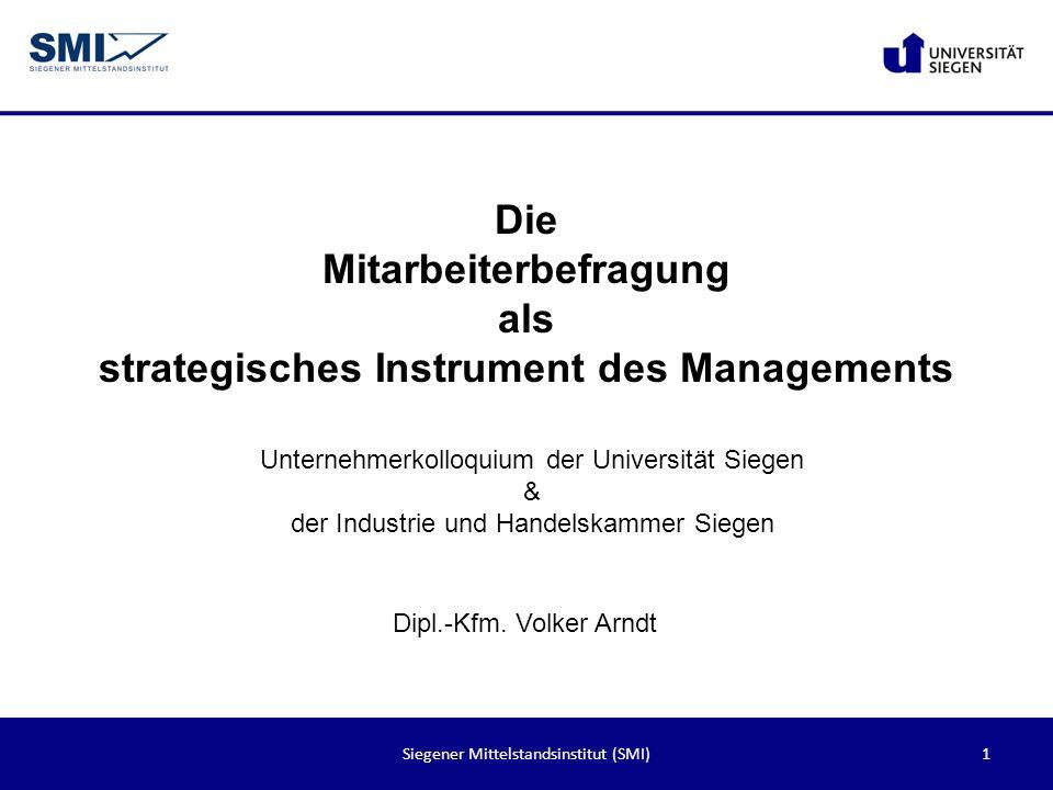 Mitarbeiterbefragung als strategisches Instrument des Managements