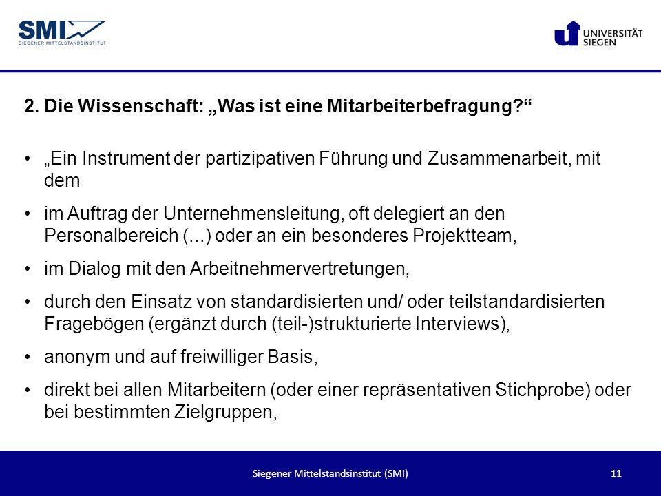 Siegener Mittelstandsinstitut (SMI)