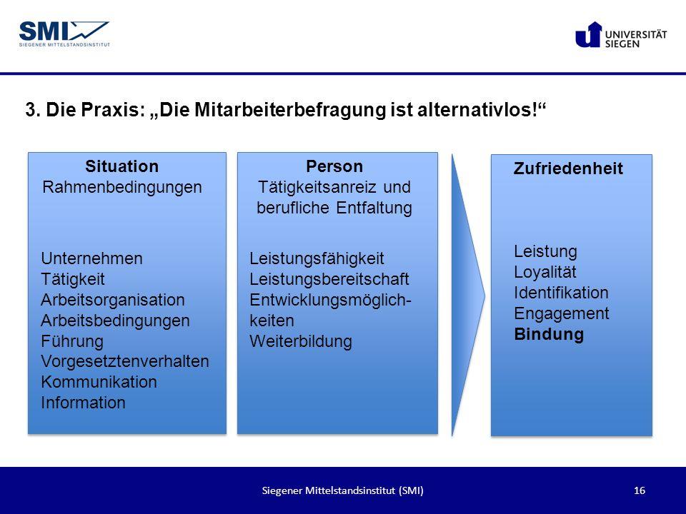 """3. Die Praxis: """"Die Mitarbeiterbefragung ist alternativlos!"""