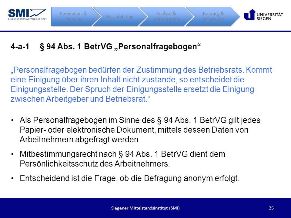 """4-a-1 § 94 Abs. 1 BetrVG """"Personalfragebogen"""