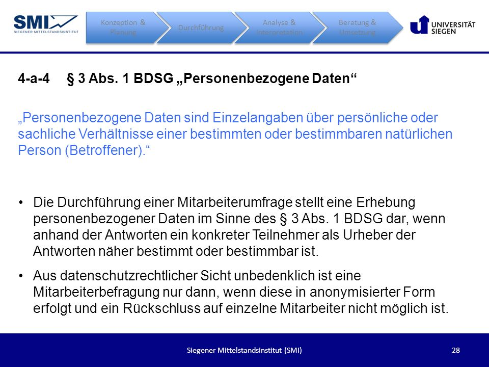 """4-a-4 § 3 Abs. 1 BDSG """"Personenbezogene Daten"""