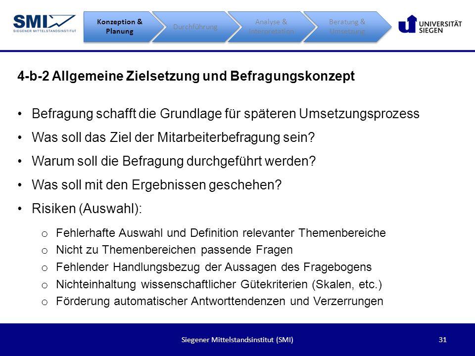 4-b-2 Allgemeine Zielsetzung und Befragungskonzept