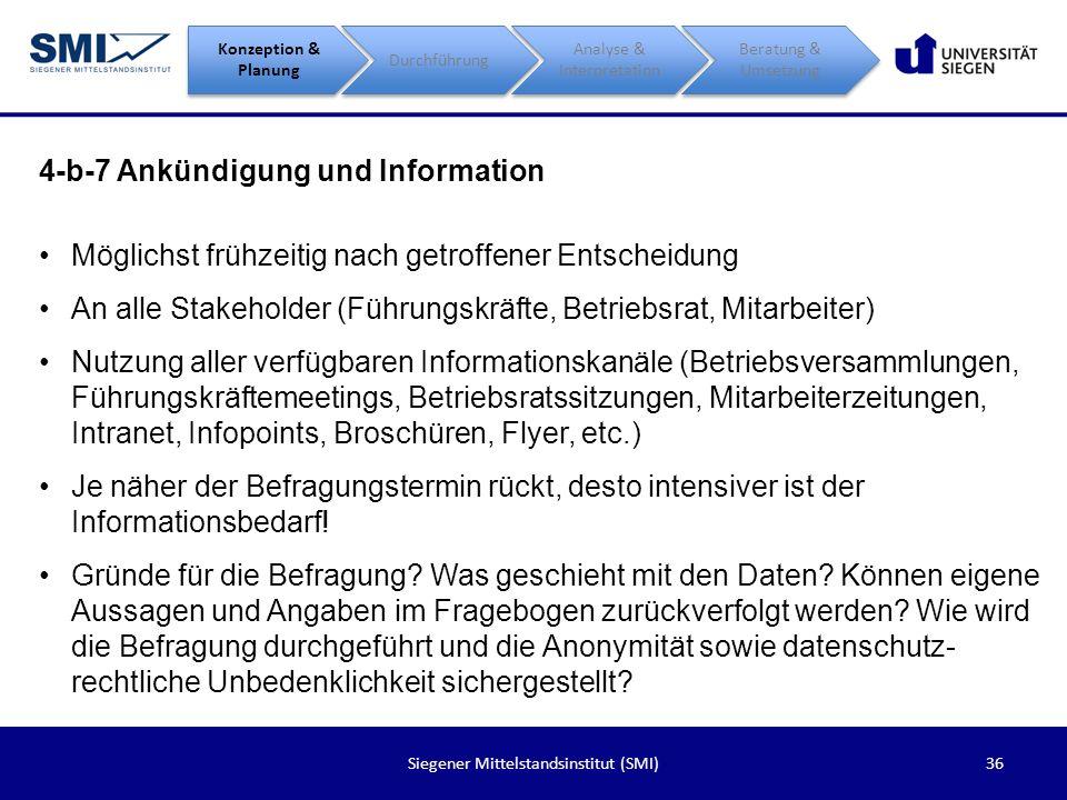 4-b-7 Ankündigung und Information