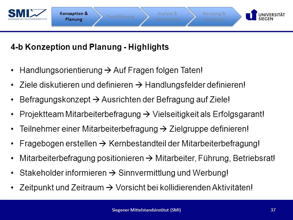 4-b Konzeption und Planung - Highlights
