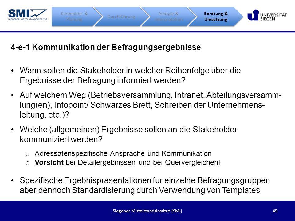 4-e-1 Kommunikation der Befragungsergebnisse