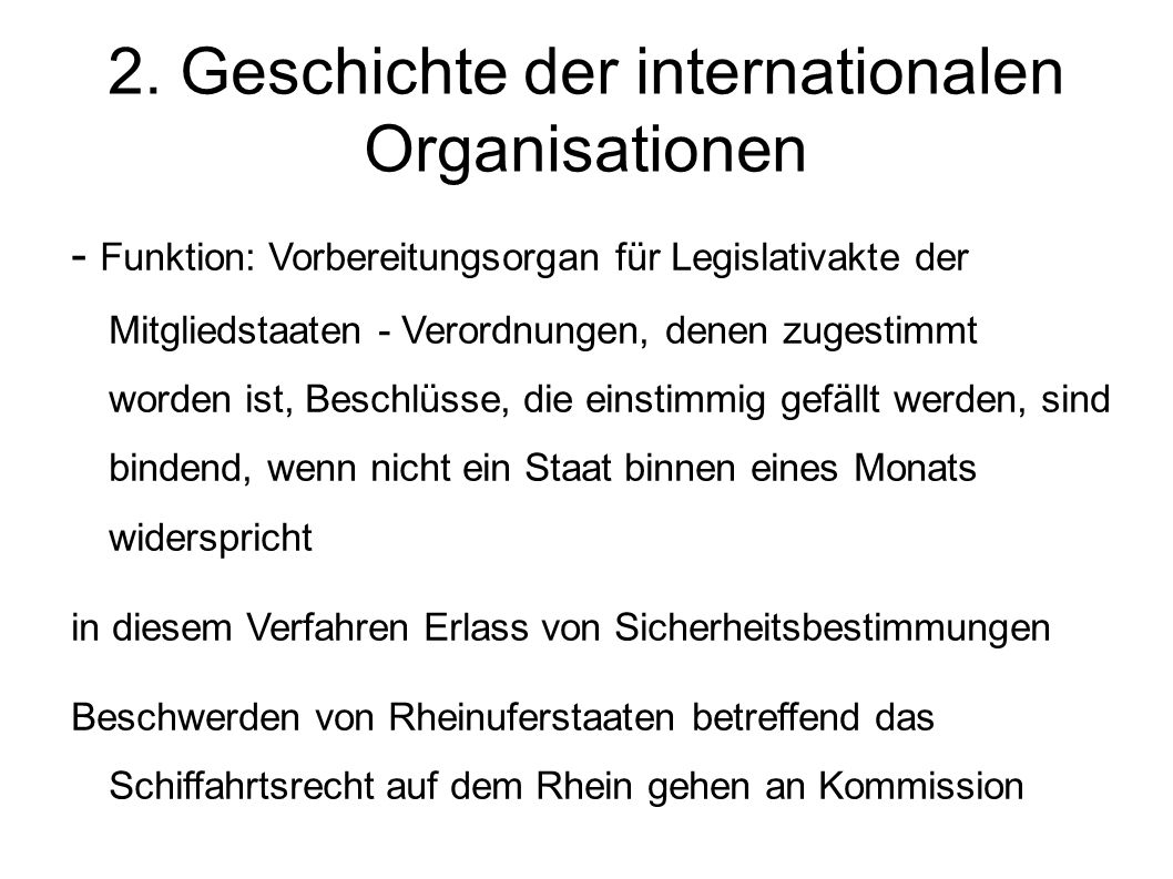 2. Geschichte der internationalen Organisationen