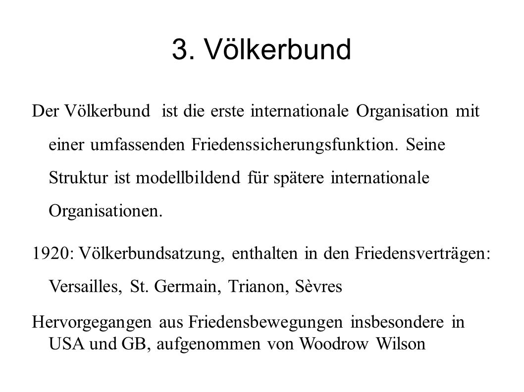 3. Völkerbund