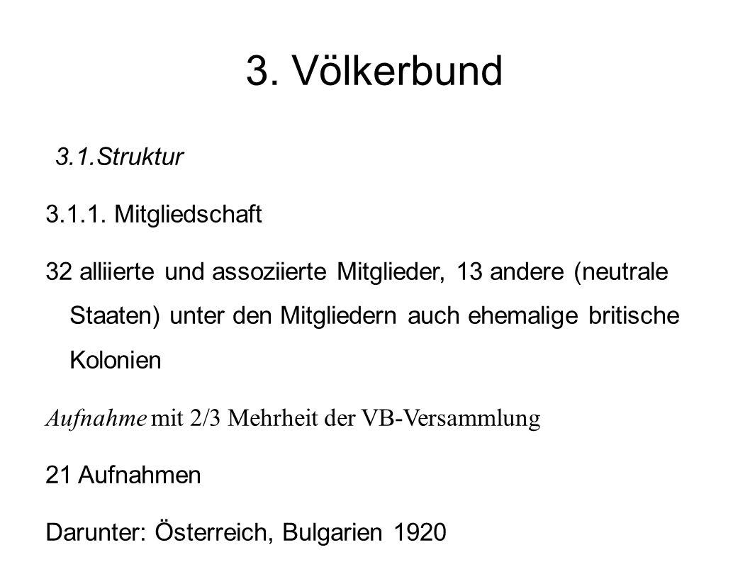 3. Völkerbund 3.1.Struktur 3.1.1. Mitgliedschaft
