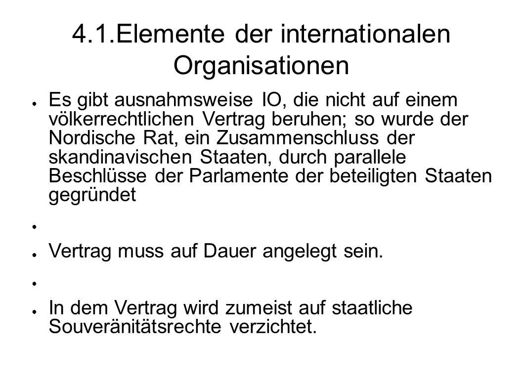4.1.Elemente der internationalen Organisationen