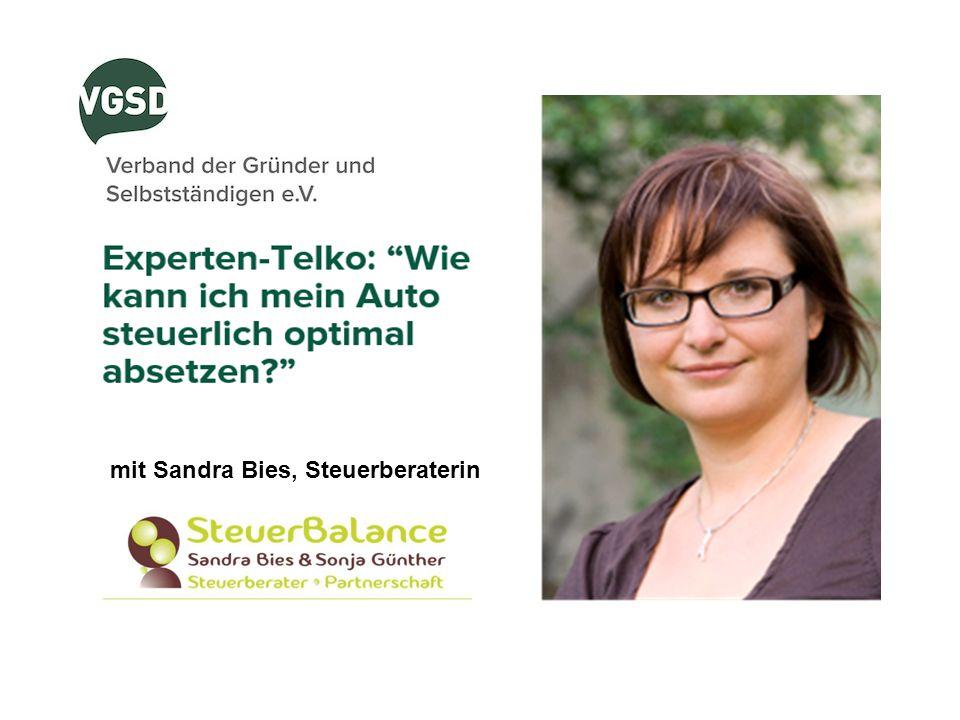 mit Sandra Bies, Steuerberaterin