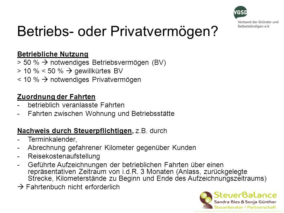 Betriebs- oder Privatvermögen