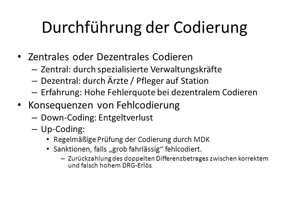 Durchführung der Codierung