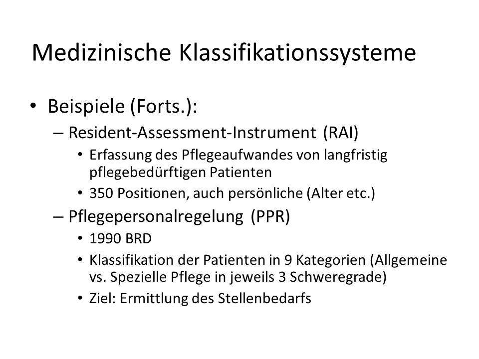 Medizinische Klassifikationssysteme