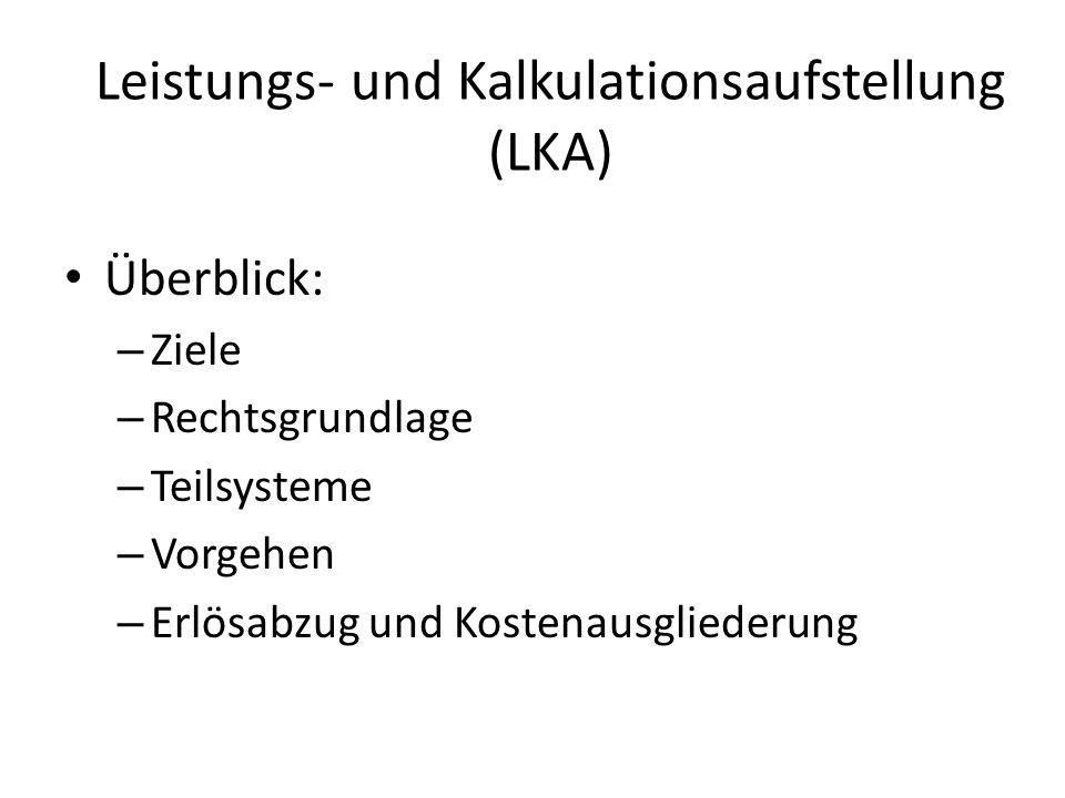 Leistungs- und Kalkulationsaufstellung (LKA)