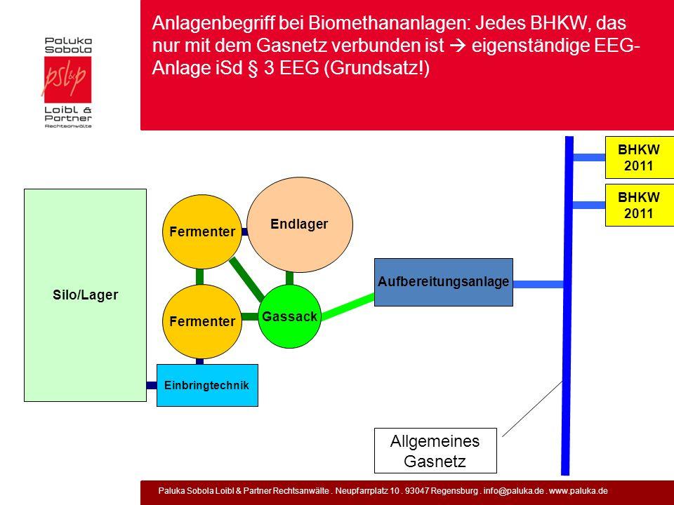 Anlagenbegriff bei Biomethananlagen: Jedes BHKW, das nur mit dem Gasnetz verbunden ist  eigenständige EEG-Anlage iSd § 3 EEG (Grundsatz!)